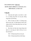 Giáo án hình học lớp 8 - Tiết 5+6+7 ĐƯỜNG TRUNG BÌNH CỦA TAM GIÁC, CỦA HÌNH