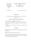 Quyết định số 879/QĐ-TCMT