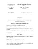 Quyết định số 878/QĐ-TCMT