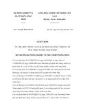 Quyết định số 1182/QĐ-BNN-HTQT