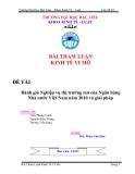 Bài tham luận kinh tế vĩ mô: Đánh giá Nghiệp vụ thị trường mở của Ngân hàng Nhà nước Việt Nam năm 2010 va ̀ giaỉ phaṕ
