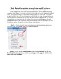 Xoá AutoComplete trong Internet Explorer