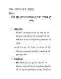 Giáo án đại số lớp 8 - Tiết 61:  BẤT PHƯƠNG TRÌNH BẬC NHẤT MỘT ẨN (tiếp)
