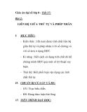 Giáo án đại số lớp 8 - Tiết 57: LIÊN HỆ GIỮA THỨ TỰ VÀ PHÉP NHÂN