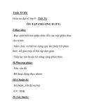 Giáo án đại số lớp 8 - Tiết 35: ÔN TẬP CHƯƠNG II (TT)