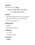 Giáo án đại số lớp 8 - Tiết 25: LUYỆN TẬP QUY ĐỒNG MẪU THỨC CỦA NHIỀU PHÂN THỨC