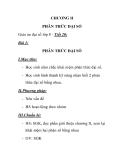 Giáo án đại số lớp 8 - Tiết 20: PHÂN THỨC ĐẠI SỐ I