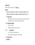 Giáo án đại số lớp 8 - Tiết 11: PHÂN TÍCH ĐA THỨC THÀNH NHÂN TỬ BẰNG PHƯƠNG PHÁP NHÓM HẠNG TỬ