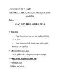 Giáo án đại số lớp 8 - Tiết 1: NHÂN ĐƠN THỨC VỚI ĐA THỨC