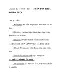 Giáo án Đại số 8: Tiết 1. NHÂN ĐƠN THỨC VỚI ĐA THỨC