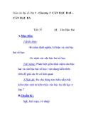 Giáo án đại số lớp 9 - Chương 1: CĂN BẬC HAI – CĂN BẬC BA