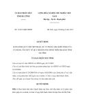 Quyết định số 12/2011/QĐ-UBND