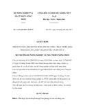 Quyết định số 1445/QĐ-BNN-KHCN