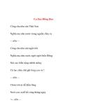 Ca Dao Đồng Dao (Phần 1)