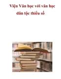 Viện Văn học với văn học dân tộc thiểu số  .