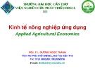 Kinh tế nông nghiệp ứng dụng