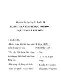Giáo án thể dục lớp 3 - BÀI : 59 HOÀN THIỆN BÀI THỂ DỤC VỚI HOA – HỌC TUNG VÀ BẮT BÓNG