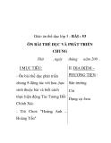 Giáo án thể dục lớp 3 - BÀI : 53 ÔN BÀI THỂ DỤC VÀ PHÁT TRIỂN CHUNG
