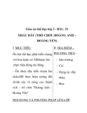 Giáo án thể dục lớp 3 - BÀI : 51 NHẢY DÂY (TRÒ CHƠI :HOÀNG ANH – HOÀNG YẾN)
