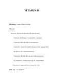 Các loại VITAMIN D