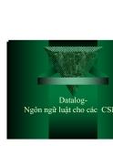 Giáo trình Tin Học: Datalog Ngôn ngữ luật cho các CSDL