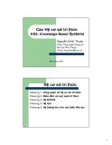Các hệ cơ sở tri thức: Knowledge Based Systems