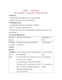 Giáo án Luyện từ và dấu câu lớp 3: Đề bài: NHÂN HOÁ ÔN CÁCH ĐẶT VÀ TRẢ LỜI CÂU HỎI : KHI NÀO?