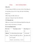 Giáo án Tập Làm Văn Lớp 3: Đề bài: BÁO CÁO HOẠT ĐỘNG