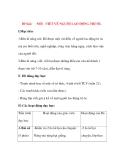 Giáo án Tập Làm Văn Lớp 3: Đề bài: NÓI - VIẾT VỀ NGƯỜI LAO ĐỘNG TRÍ ÓC.