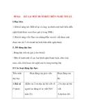 Giáo án Tập Làm Văn Lớp 3: Đề bài: KỂ LẠI MỘT BUỔI BIỂU DIỄN NGHỆ THUẬT.