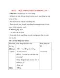 Giáo án Tự nhiên xã hội lớp 3: Đề bài: MỘT SỐ HOẠT ĐỘNG Ở TRƯỜNG(tt)