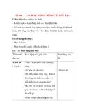 Giáo án Tự nhiên xã hội lớp 3: Đề bài: CÁC HOẠT ĐỘNG THÔNG TIN LIÊN LẠC.