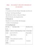Giáo án Luyện từ và dấu câu lớp 3: Đề bài: ÔN CÁCH ĐẶT VÀ TRẢ LỜI CÂU HỎI: BẰNG GÌ? DẤU HAI CHẤM