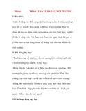 Giáo án Tập Làm Văn Lớp 3: Đề bài: THẢO LUẬN VỀ BẢO VỆ MÔI TRƯỜNG