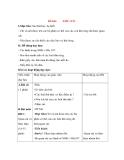 Giáo án Tự nhiên xã hội lớp 3: Đề bài: THÚ (TT)