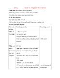 Giáo án Tự nhiên xã hội lớp 3: Đề bài: MÁU VÀ CƠ QUAN TUẦN HOÀN
