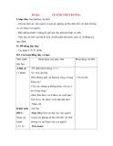 Giáo án Tự nhiên xã hội lớp 3: Đề bài: VỆ SINH MÔI TRƯỜNG