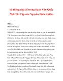hệ thống chủ đề trong Bạch Vân Quốc Ngữ Thi Tập của Nguyễn Bỉnh Khiểm_1