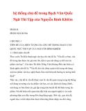hệ thống chủ đề trong Bạch Vân Quốc Ngữ Thi Tập của Nguyễn Bỉnh Khiêm_2