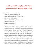 hệ thống chủ đề trong Bạch Vân Quốc Ngữ Thi Tập của Nguyễn Bỉnh Khiêm_6