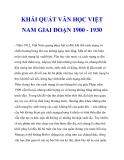 KHÁI QUÁT VĂN HỌC VIỆT NAM GIAI ĐOẠN 1900 - 1930_5
