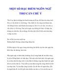 MỘT SỐ ĐẶC ĐIỂM NGÔN NGỮ THƠ CẦN CHÚ Ý_2