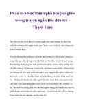 Phân tích bức tranh phố huyện nghèo trong truyện ngắn Hai đứa trẻ Thạch Lam