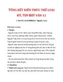 TỔNG KẾT KIẾN THỨC THỂ LOẠI KÝ, TÙY BÚT VĂN 12_1