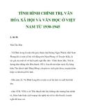 TÌNH HÌNH CHÍNH TRỊ, VĂN HÓA XÃ HỘI VÀ VĂN HỌC Ở VIỆT NAM TỪ 1930-1945_2