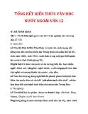TỔNG KẾT KIẾN THỨC VĂN HỌC NƯỚC NGOÀI VĂN 12_2