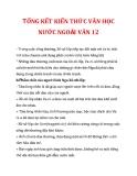 TỔNG KẾT KIẾN THỨC VĂN HỌC NƯỚC NGOÀI VĂN 12_3