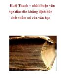 Hoài Thanh – nhà lí luận văn học đầu tiên khẳng định bản chất thẩm mĩ của văn học_2