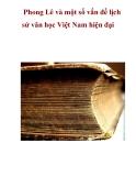 Phong Lê và một số vấn đề lịch sử văn học Việt Nam hiện đại_3