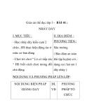 Giáo án thể dục lớp 3 - BÀI 41 : NHẢY DÂY